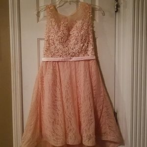 ⭐ONLY WORN ONCE⭐Minuet pink hi-low dress